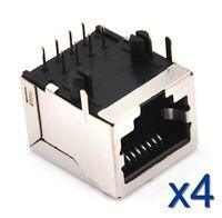 4x Connecteur à souder RJ45 femelle Network Ethernet /female connector to solder