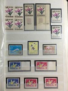TCStamps 12X pages Vietnam Orchid Flower Souvenir Sheet Postage Stamps 254 4oz