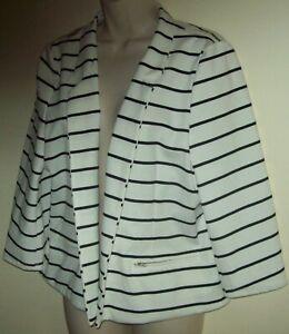 Katies plus size black & white striped jacket Size 1XL