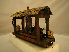 O scale or On30 Logging Steam Donkey - custom weathered after historic picture
