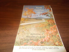 1964 North Carolina State-issued Vintage Road Map