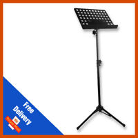 Pulse Heavy Duty Orchestral Lectern Conductor Sheet Music Stand Holder Tripod Bl