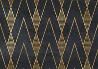 A1 | Black Gold Art Deco Poster Art Print 60 x 90cm 180gsm Elegant Gift #12545