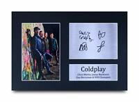 Coldplay Signed Pre Printed Autograph Photo Gift For a Rock Fan