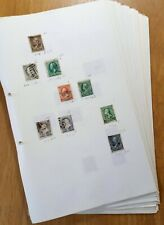 More details for usa: great lot of old classic stamps on 63 sheets. see all 63 photos