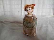Vintage porcelain lady, girl planter Japan