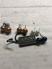 Honora pearl earrings 4 set.