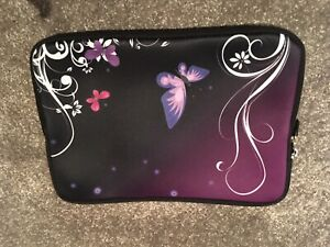 BLACK BUTTERFLY iPad COVER/CASE/SLEEVE WITH ZIPOR OTHER DEVICE