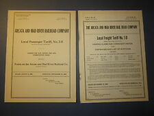 2 Old 1925-30 ARCATA and MAD RIVER RAILROAD - Freight Tariff Documents - CA.