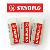 Stabilo Legacy Mars Erasers Plastic Rubber Erasers - Pack of 3