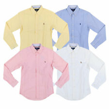Ralph Lauren рубашка мужская рубашка приталенная с длинным рукавом из ткани Oxford воротник новый новый с ценниками Rl