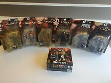 Lot Of 7 1999 Movie Maniacs McFarland Toys Scream, Psycho, Crow Action Figures