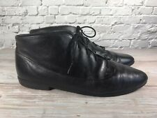 Munro Sport Lace Up Comfort Bootie Black Boot Leather Womens 12 N Narrow Shoe