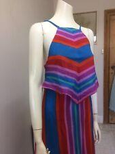 Original Vintage 70s Dress ,Hanker Chief  Maxi Dress ,Boho Hippy Pinup Retro