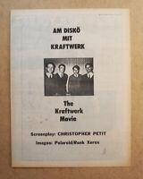 KRAFTWERK ORIGINAL FULL PAGE ADVERT (not reproduction) from 1978.