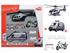 Polizei Spieleset Sprinter Hubschrauber Motorrad und Zubehör Dickie Spielzeug