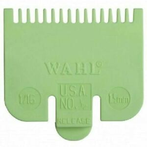 """Wahl Standard Fitting Hair Clipper Attachment Comb No 1/2 1.5mm Green /lime1/16"""""""