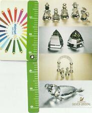 3 1993 Swarovski Crystal Holiday Memories Advertising Silver Crystal Retirements