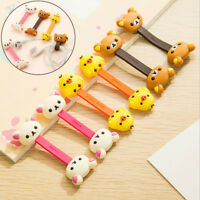1Pc cartoon silicone earphone cable organizer wrap clips wire cord winder PL