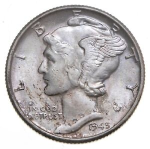 CH Unc 1945 Mercury Liberty Dime - 90% Silver - From an Original Roll! *279