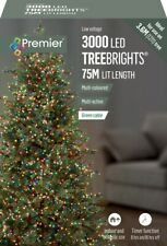 Premier 3000 LED Multi-Action TreeBrights Christmas Tree Lights with Timer MULTI