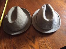 2  Mens Gray Fedora Hats