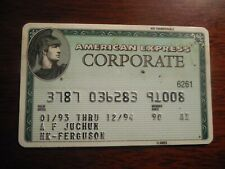 American Express Green Corporate Credit Card Expired 1994