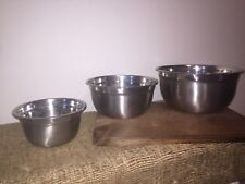 New listing Stainless Steel Nesting Mixing Bowls Set of 3