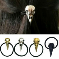 Hot Lady Gothic Raven Skull Elastic Hair Rope Hair Accessories Jewelry Gift