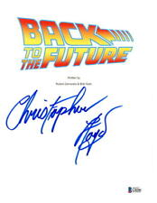 CHRISTOPHER LLOYD SIGNED BACK TO THE FUTURE SCRIPT AUTOGRAPH PROOF BECKETT COA