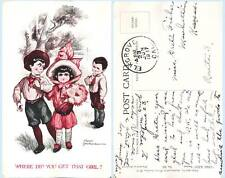 Where Did You Get That Girl? Chic Kids 565 1917 Fred Spurgin Art Comic Postcard