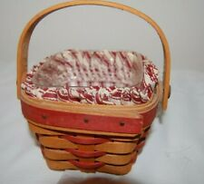 LONGABERGER Small Berry Basket Combo Sw/H with Liner Protector - handwoven