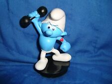 """Smurfs Lost Village Hefty Smurf PVC Collectible Figure Snapco cup topper 3"""""""