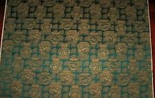LEE JOFA KRAVET CHINOISERIE ORIENTAL VASES DAMASK FABRIC 30 YARDS EMERALD GOLD