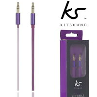 Kitsound Aux Lead Audio Stereo Cable 3.5mm Male Jack to 3.5mm Male 1.5M Purple