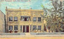 West Palm Beach FL Resler Photographic Studio 1910 Postcard
