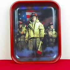 Heroes Firefighters Commemorative Metal Tray September 11 Charles Freitag 2002