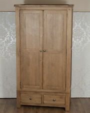 Solid Oak 2 Door 2 Drawer Wardrobe in Chunky Dorset Country FREE DELIVERY!!