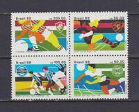 S19237) Brasilien Brazil 1988 MNH Neu Football Clubs 4v