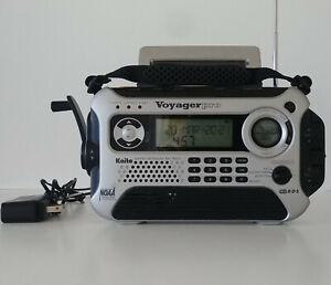Kaito Voyager Pro KA600 Weather Alert Multiband Radio w/ AC Adapter Tested Works