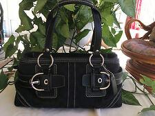 Coach satchel black Coach purse Black Coach handbag Coach Signature Jacquard bag