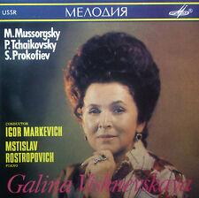 CD Galina Vishnevskaya-Mussorgsky, Tchaikovsky, Rostropovich, Melodiya