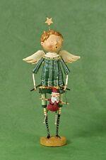 70688 Lori Mitchell Christmas Puppeteer Angel w/Santa Puppet Folk Art Figure