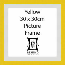 Handmade Yellow Wooden Picture Frame With Mount - 30 x 30cm