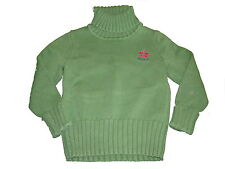 Esprit toller Strick Pullover Gr. 92 / 98 grün mit Rollkragen !!