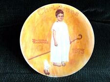 "Norman Rockwell Limited Edition 8 1/2"" Collector Plate  Angel with a black eye"