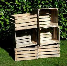 Amazing solid vintage wooden apple crates boxes 3 pcs - ground and cleaned!