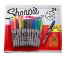24 SHARPIE Coloured Permanent Marker Pen Sharpies Bulk Texta Fine Point Set