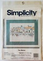 "JCA Simplicity Counted Cross Stitch Kit ""THE MARINA"" #05557 - NEW"