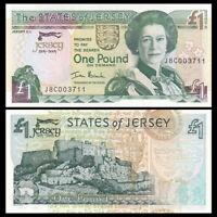 Jersey 1 Pound,2004, P-31, UNC, Banknotes, Original